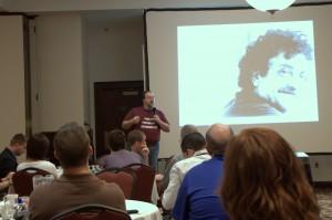 Erik Deckers speaking at Blog Indiana 2011
