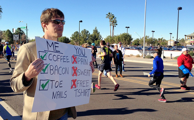 Marathon Checklist sign