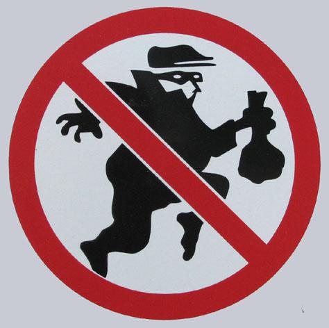 No Burglars sign