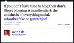 Really? We're STILL Talking About Ghost Blogging?