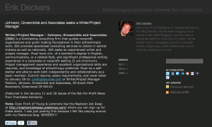 Posterous.com Screenshot