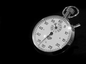 A stopwatch is not necessarily going to help you write faster. Don't time yourself for a writing hack.