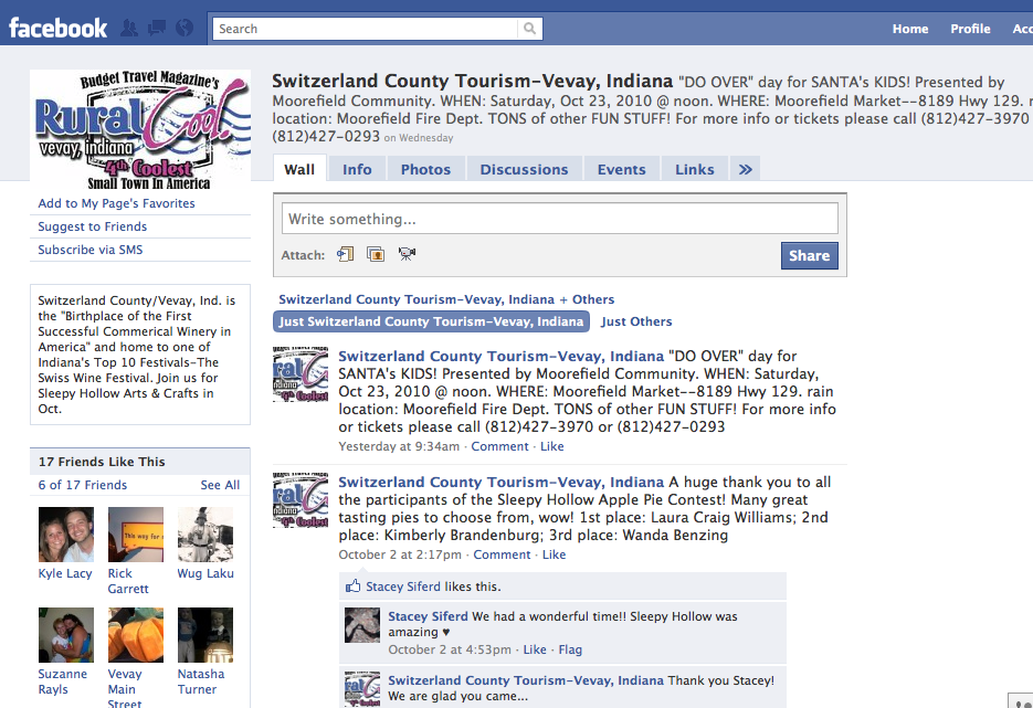 Switzerland County Facebook Page