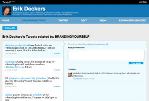 Twylah screenshot of BrandingYourself 300x203 New Twitter Tool, Twylah, Promises Huge Things for Social Media