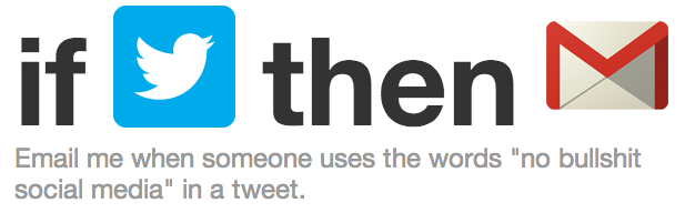ifttt Twitter recipe Twitter Screws Up IFTTT.com For The Rest Of Us
