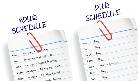 your business blogging schedule-our business blogging schedule