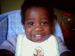 A photo of my son when he was about 18 months old. A word is worth a thousand pictures, because if I just say 'baby' I'll bet you think of your own.