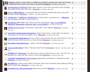 Blogchat screenshot