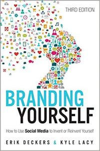 The Branding Yourself cover. Cover design is just one important facet of writing books.