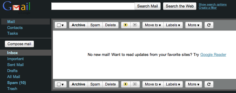 Empty Gmail Inbox, achieving Inbox Zero