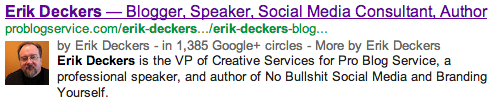 Erik Deckers AuthorRank