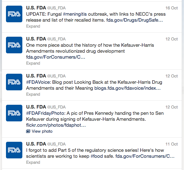 Tweets from the FDA