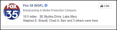 Fox 35's Facebook results