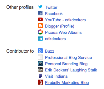 Google+ Contributor Screenshot