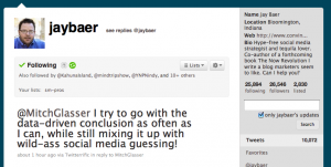 Twitter page for Jay Baer