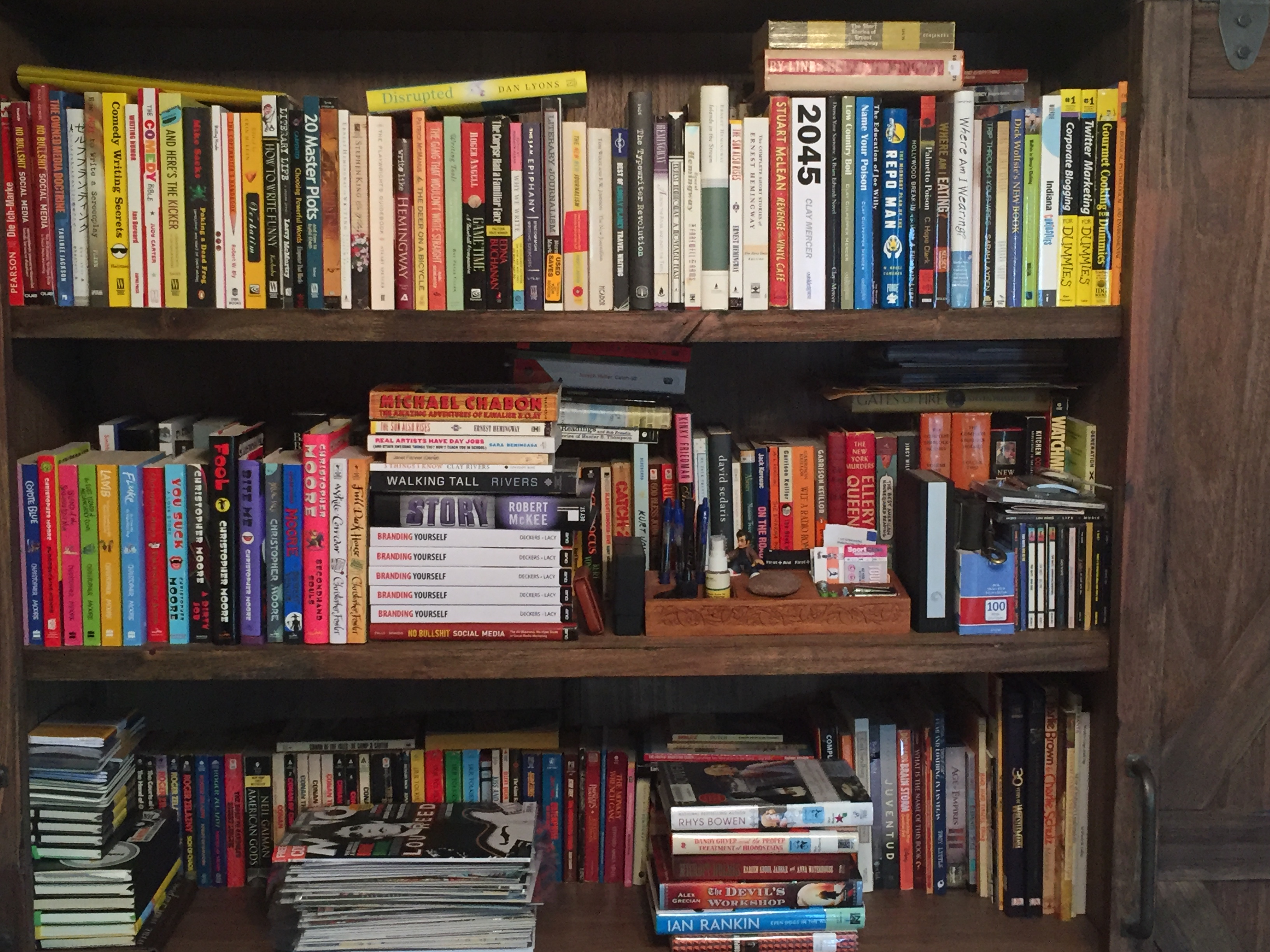 My Bookshelf At Home Ive Whittled Books Down To Favorite Authors And
