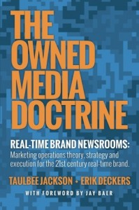 The Owned Media Doctrine cover, a book about enterprise content marketing