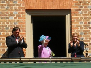 Queen of England at William and Mary College