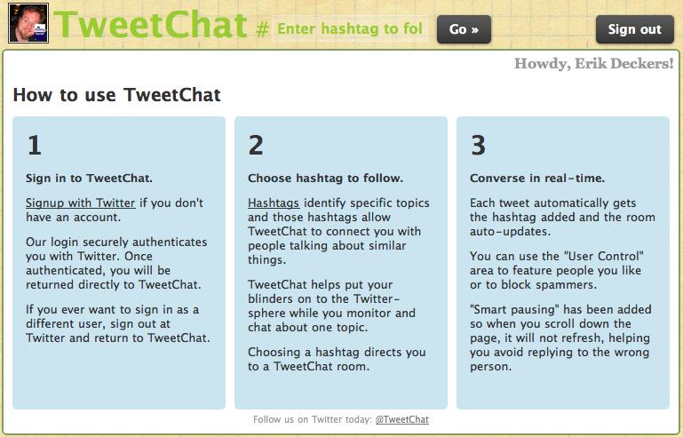 TweetChat window