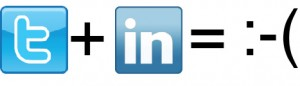 Twitter plus LinkedIn equals frowny face