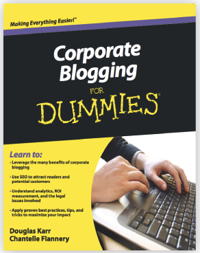 Cover of Corporate Blogging for Dummies book