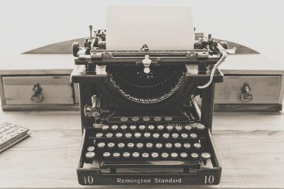 Photo of a typewriter. Tactile writing like this just screams writing with integrity.